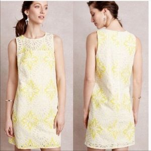 Anthropologie lace shift dress